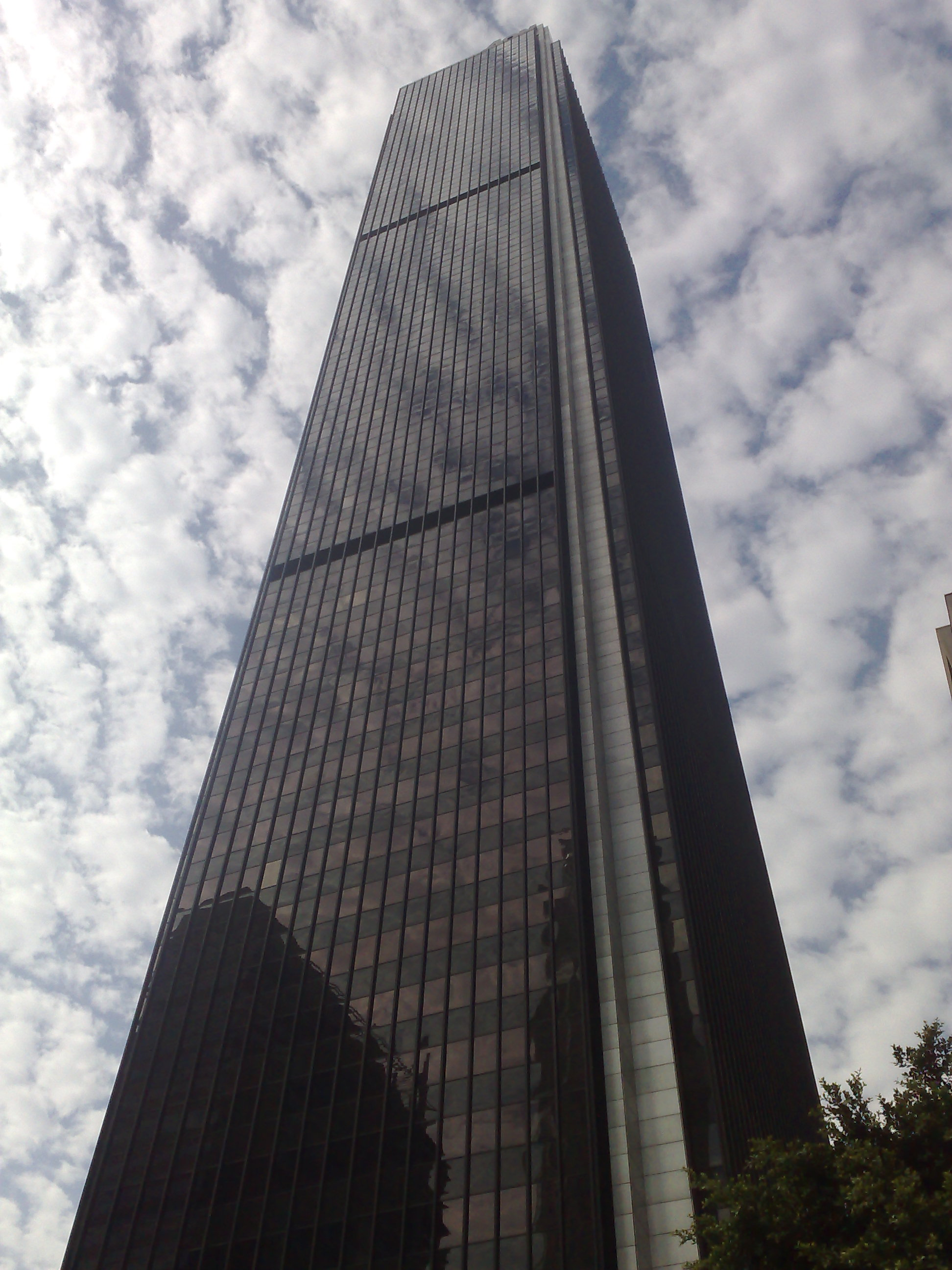 Black Marble Buildings : Climb flights to the roof of aon building in